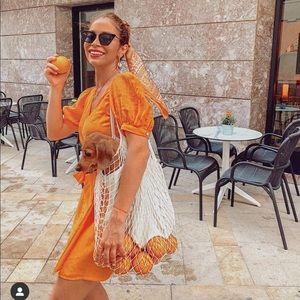 Zara wrap linen dress
